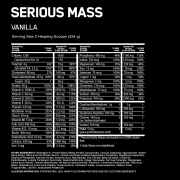 Optimum Nutrition Serious Mass Nutri Info Vanilla