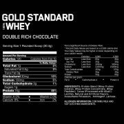 Whey Protein Gold Standard Nutrition Info Double Rich Chocolate